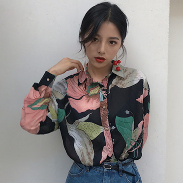 2018 Femmes Style Mazefeng Femelle Mature Printemps Vintage Chemises AZxd8pqw