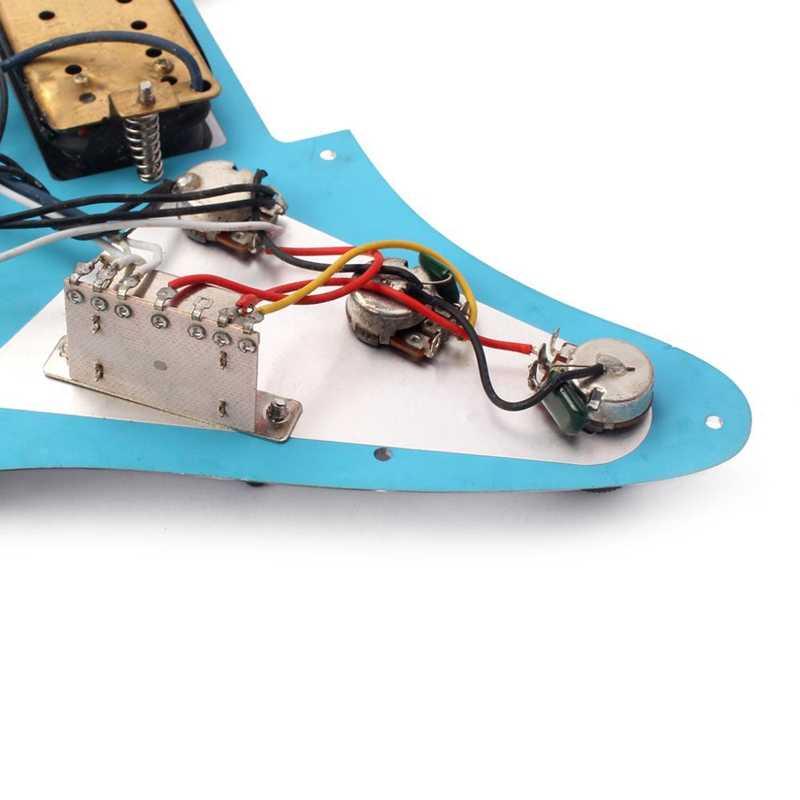 Зеркало Pickguard 3-Ply Ssh загружен Prewired Humbucker Pickguard набор звукоснимателей для гитары