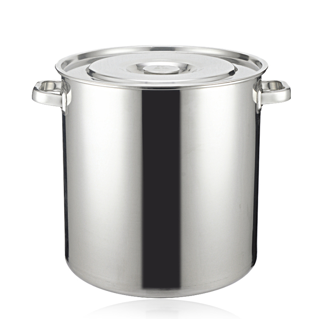 Stainless Steel Barrel Storage Tank Lid Thicker Soup Bucket Drum Drums Ear  Side More With A