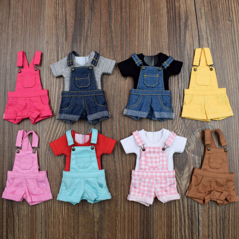 1PCS Denim Suspenders Trousers Bib Pants for Blyth, Licca, Azone S, Barbies, OB24, OB27, Momoko Doll Clothes Overall Outfuts