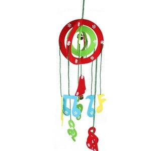 Ветряные колокольчики рождественские Висячие двери украшения Рождественское дерево декор магазин отель Подвеска для витрины украшения ве...
