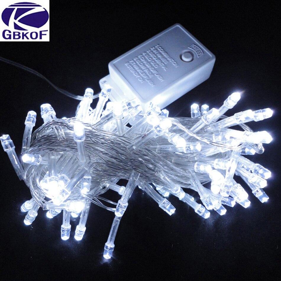 10 m Impermeabile 110 v/220 v 100 LED di vacanza luci Della Stringa per la Festa Di Natale Del Partito Fata Colorato di Natale LED Luci Della Stringa
