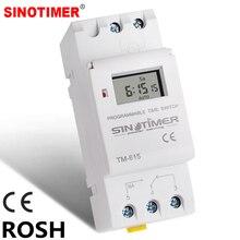 SINOTIMER бренд Электронный Еженедельник 7 дней программируемый цифровой реле времени таймера управления переменного тока 220V 230V 16A Din рейка крепление