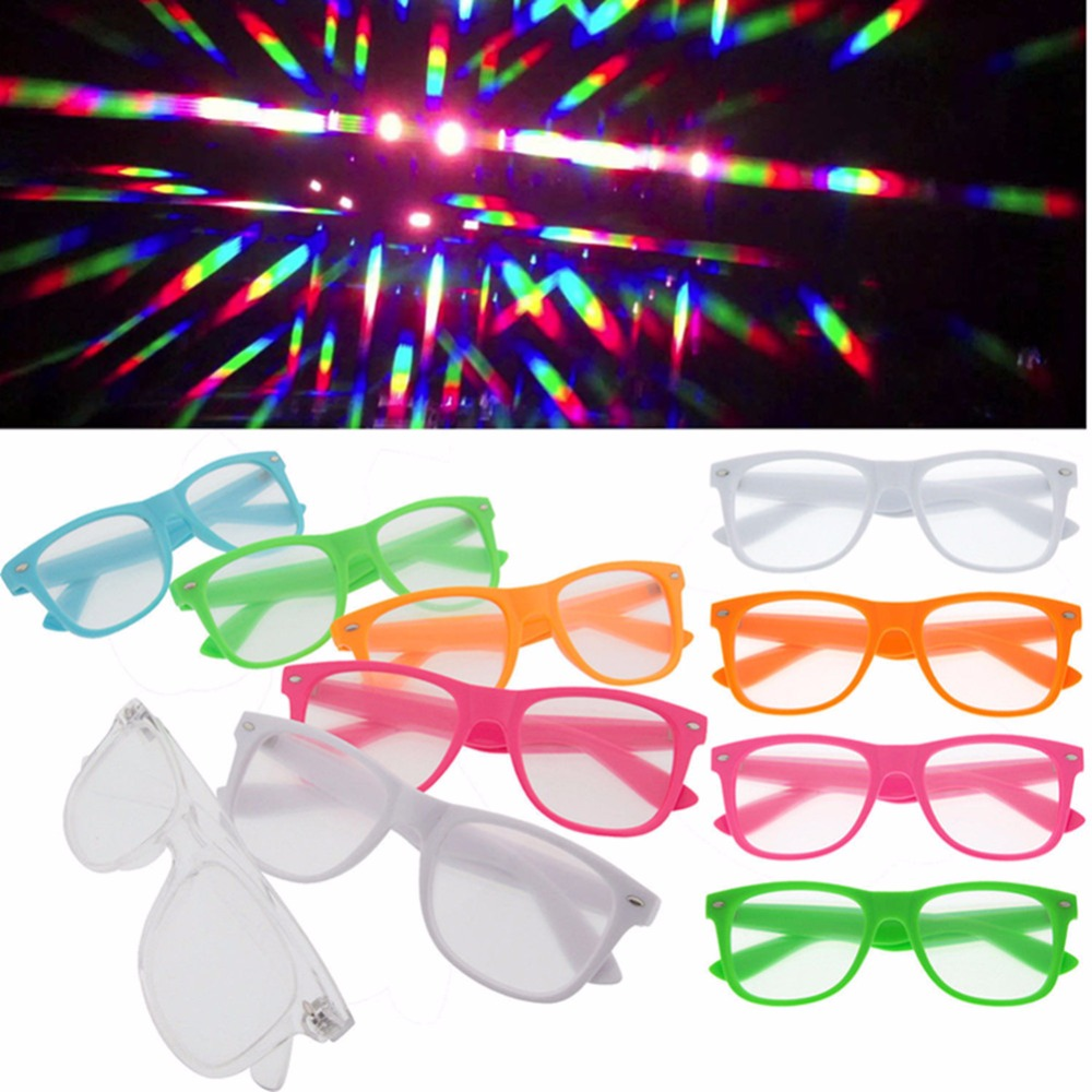 1pcs Hard Plastic 3d Raves Prism Diffraction Glasses,fireworks Rainbow 3d Eyewear With 13500 Strong Lens Consumer Electronics