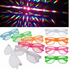 1pcs Hard Plastic 3D Raves Prism Diffraction Glasses,Fireworks Rainbow 3D Eyewear with 13500 Strong Lens(China)