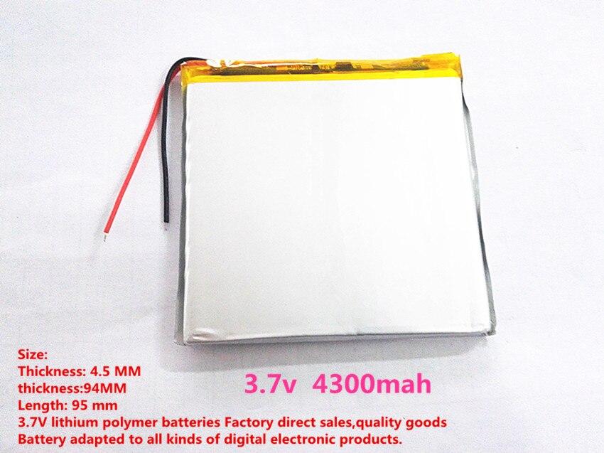 Meilleur batterie marque 1 PCS livraison gratuite Au Lithium polymère batterie 459495 taille 4.1*95*93 Tablet PC construit batteries 4300 mah