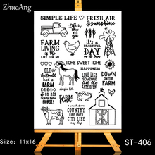 ZhuoAng Leisure farm life Transparent and Clear Stamp DIY Scrapbooking Album Card Making Decoration