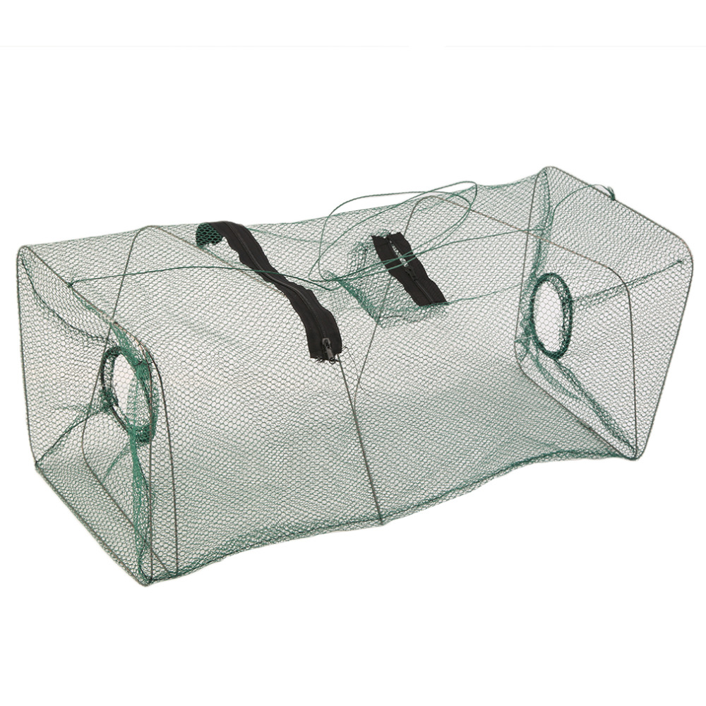 Fishing Foldable Crab Fish Crawdad Shrimp Minnow Fishing Bait Trap Cast Net Cage 40cm x 22cm x 22cm Newest