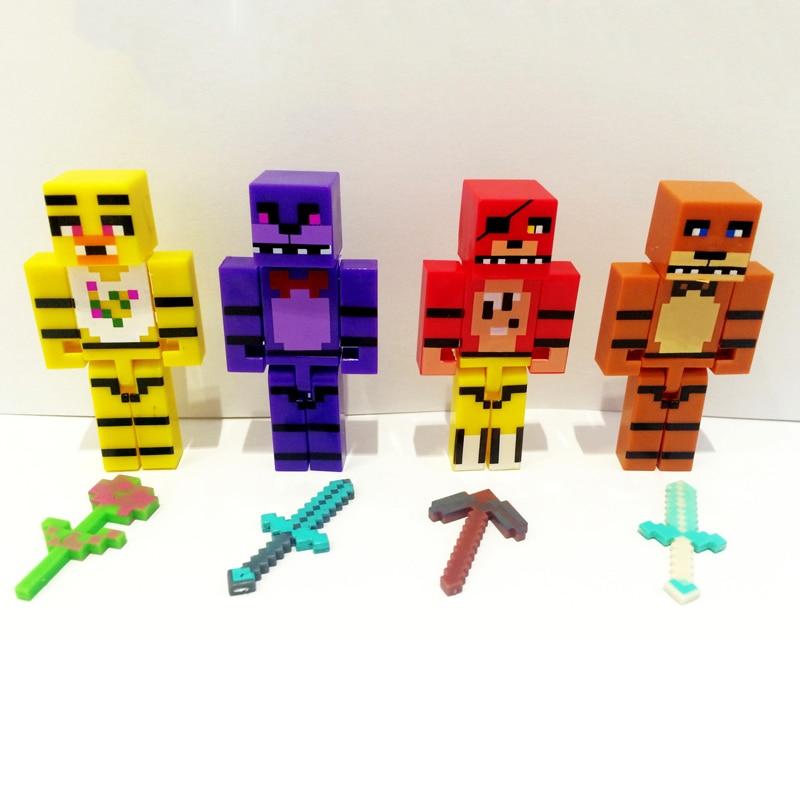 4 հատ / սահմանել Minecraft- ը հինգ գիշեր - Խաղային արձանիկներ - Լուսանկար 2