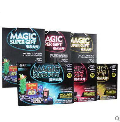 Classique enfants tours de magie set jouets super haute qualité avec manuel DVD tours de magie spectacle de scène cadeau pour les enfants - 6