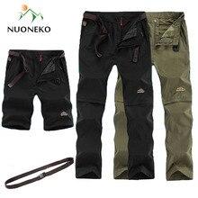 NUONKEO New Asciutta Rapida Esterna Pantaloni Da Trekking Uomo Estate Uomini Rimovibili delle Pantaloncini Per Lo Sport Campeggio Trekking Pantaloni Impermeabili PN10