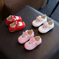 Insole 11.5-13.5cm Spring Autumn Baby Girl Shoes Cute Bunny Princess PU Leather Shoes