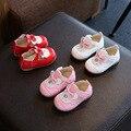 Plantilla 11.5-13.5 cm otoño baby girl shoes lindo conejito princesa pu leather shoes