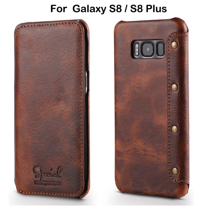 bilder für Luxury Business Stil Echte Reale Lederne Mappen-kasten Für Samsung Galaxy S8 Plus Flip Ledertasche Für Samsung S8 Plus