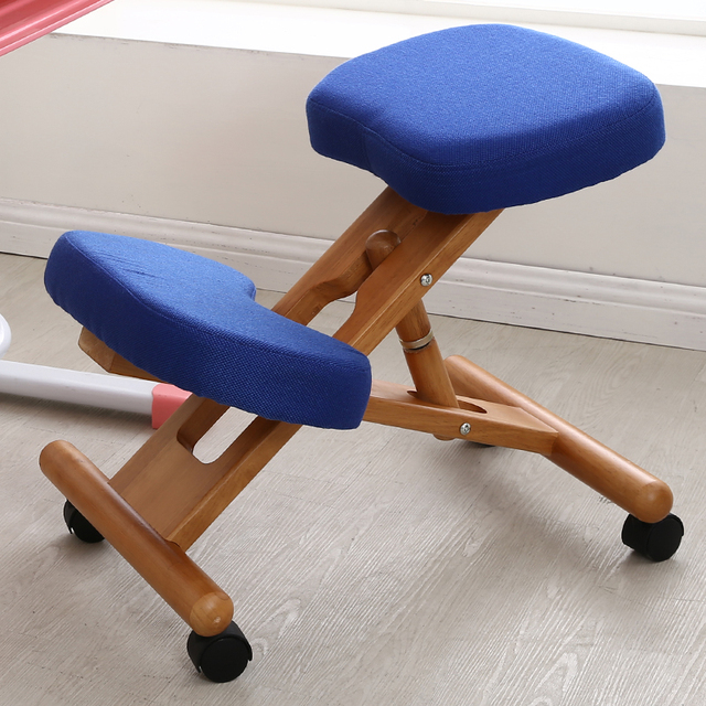 Balance Posture Chair White Nursery And Ottoman Ergonomic Kneeling With Caster Stool Wood Office Support Furniture Wooden Balancing Body Back Pain