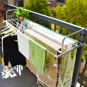 Drying-Rack Hanging Window-Sill Balcony Folding Stainless-Steel Small