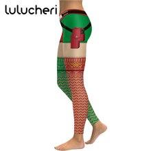2018 Christmas Sexy Leggings For Women Girls Multicolor Stripes Printing Leggins Novelty Ankle-Length High Waist Fitness Legins