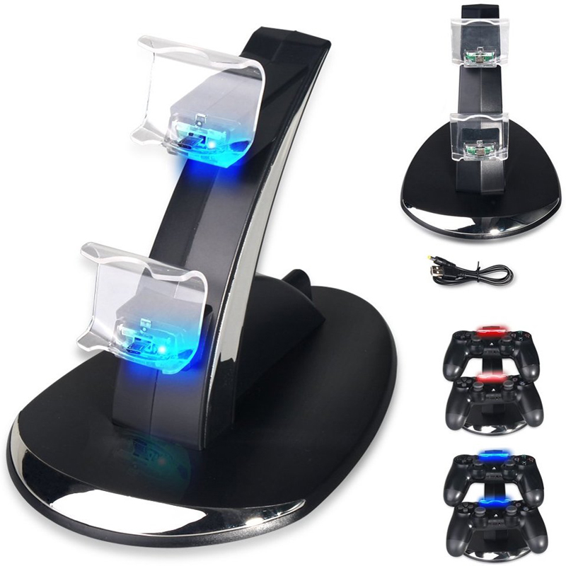 PS4 / PS4 Slim / PS4 Pro Controller Charger, PS4 Charging Station Stand for PlayStation 4 Controller аксессуар для игровой приставки ps4 playstation 4 вертикальный стенд для ps4 slim pro cuh zst2e