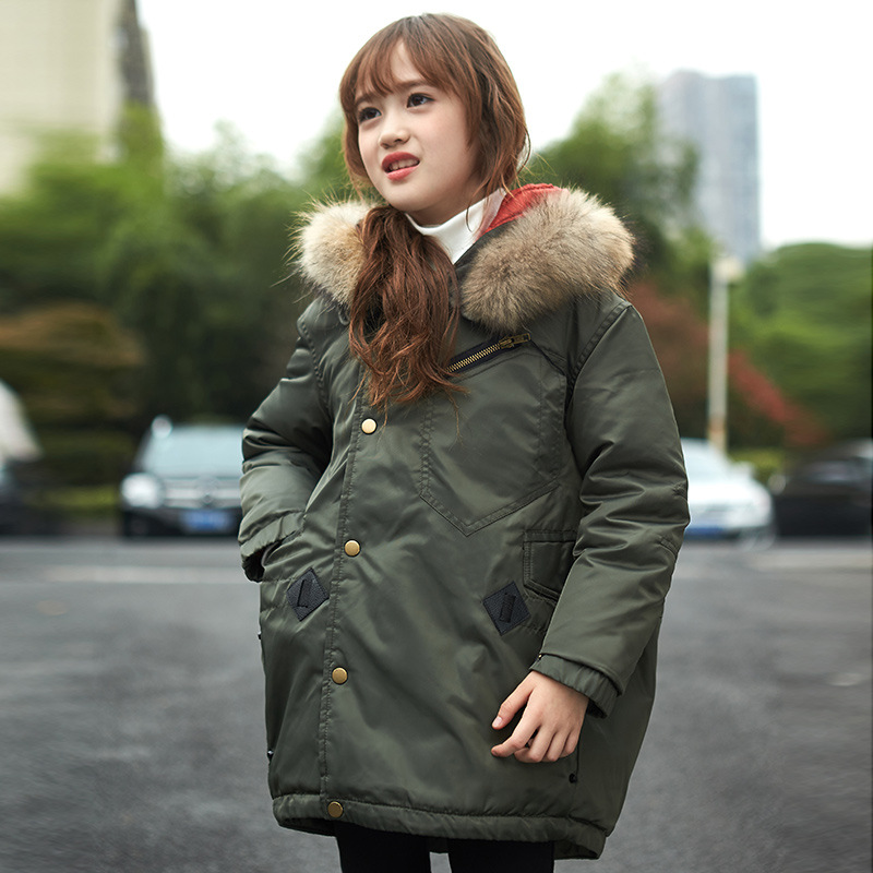 Children'S Winter Jackets Kids Girls Winter Coats And Jackets 2016 Cotton Hooded Long Thick Warm Casual Cute Korean Down Coat