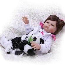 """NPK 50 cm 20 """"full Silicone Boneca Reborn Bebê Artesanal Brinquedo BeBe Reborn Para Meninas Aniversário Do Bebê Recém-nascido Menina presente Para A Criança"""
