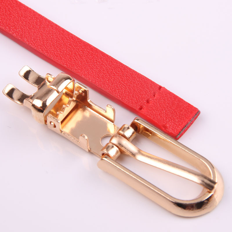 HTB1Yk3JX6LuK1Rjy0Fhq6xpdFXam - Women Faux Leather Belts Candy Color Thin Skinny Waistband Adjustable Belt Women Dress Strap cinturon mujer cinto feminino