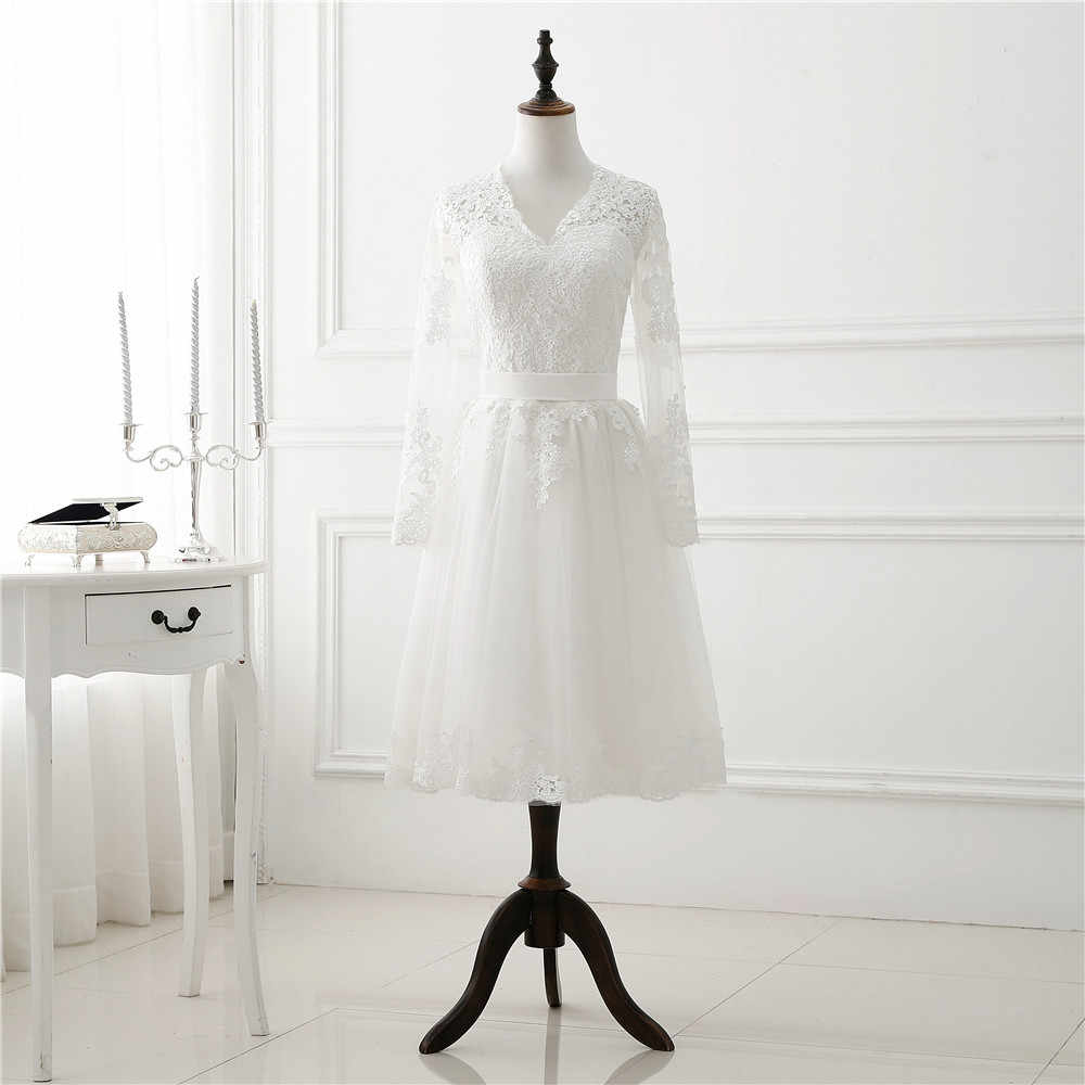 Wedding Dress Long Sleeve Lace Tulle