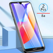 2pcs Tempered Glass For Honor 8a Protective Glass Screen Protector Phone Film Safety Tremp On For Huawei Honer Honor8a 8 A A8 9h(China)