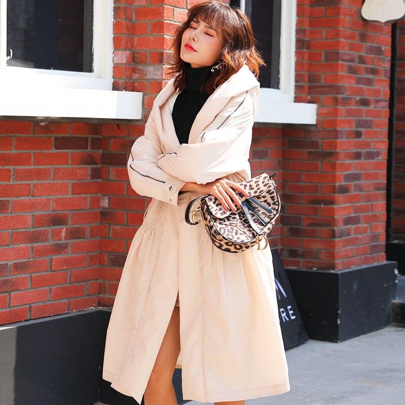BG winter   down   jacket women thicken long   down     coat   hooded fashion outwear warm J90142308D