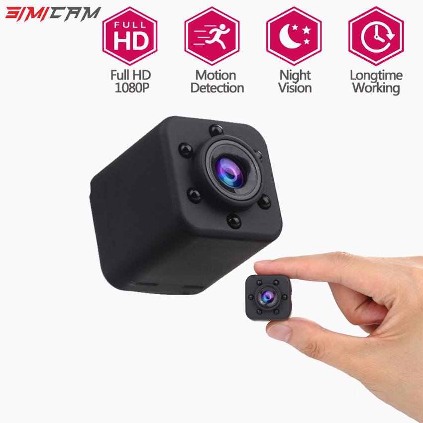 Wireless Wifi Camera 1080P Full HD Mini IP camera Small Portable Camera Wi-Fi Mobile app Remote Viewing Large angle free shipping wifi ir remote control digital camera dv 126 1080p 30fps 170d viewing angle camera