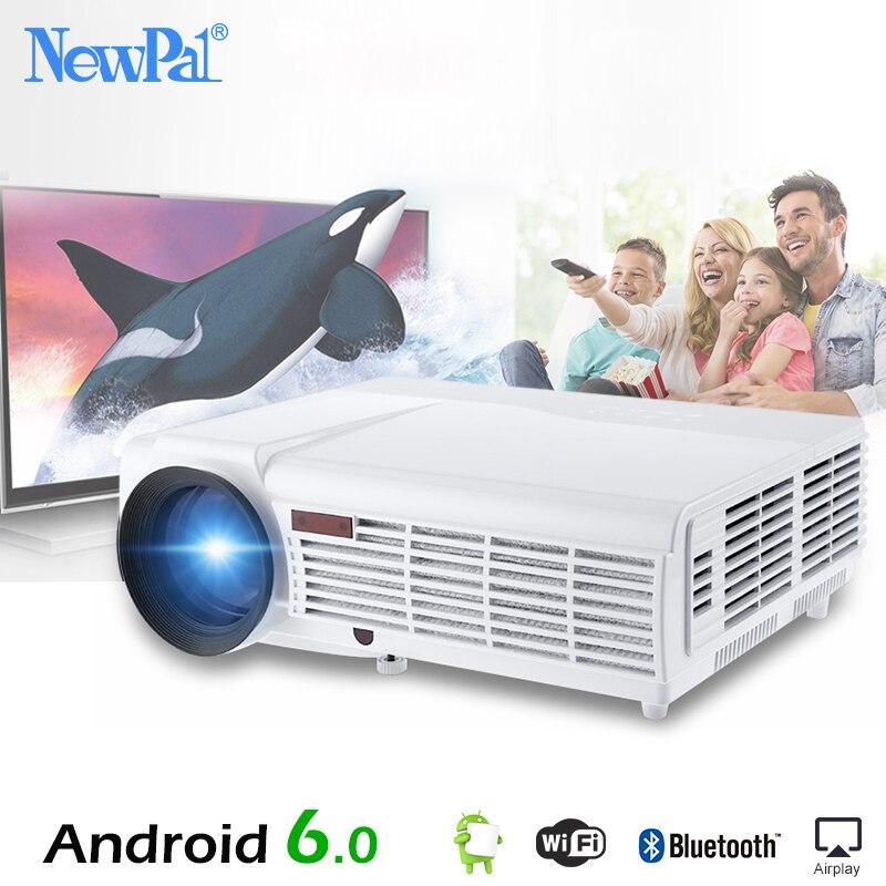 5500 Lumen 3D Proiettore Domestico Full HD di Sostegno 1920*1080 Pixel di Video TV WIFI Android6.0 Proiettore Con Trasporto 100 pollici di Schermo