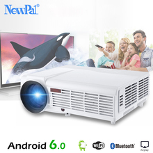 5500 Lumens 3D Home Projector Full HD Support 1920×1080 Pixels Video TV WiFi Android 6.0 Projector With Free 100 inches Screen