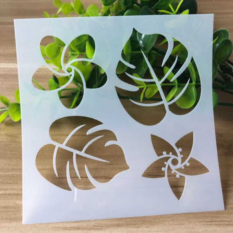 DIY Flower See Leaf Openwork Stencil For Wall Painting Scrapbooking Stamping Stencil Bullet Journ Embossing Paper Card Template
