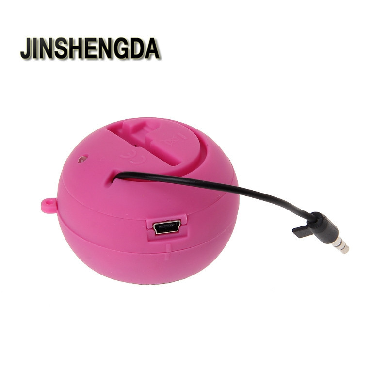 JINSHENGDA Bluetooth Speaker Hamburger Speaker Rechargeable with Extension Cord For MP3 Audio Laptop Phone