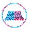 108cm Verwijderbare Sport Hoops Buik Massage Loops Gewichtsverlies Harde Buis Cirkel Taille Afslanken Fitnessapparatuur Gymnastiek Ring