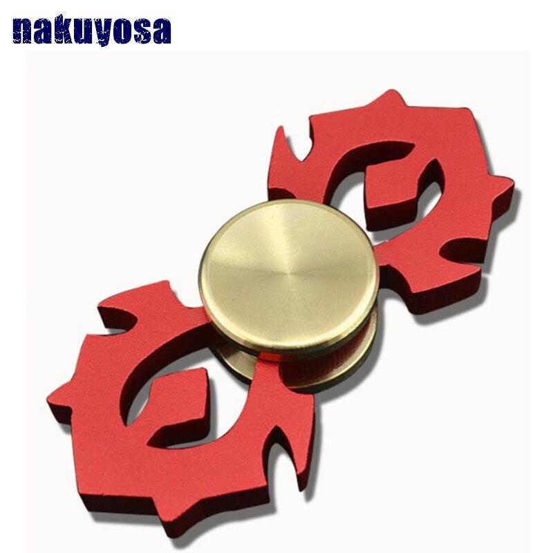 EDC Tri-Spinner Fidget jouets rouge/or/argent main Spinner métal Fidget Spinner et tdah adultes enfants jouets éducatifs loisirs