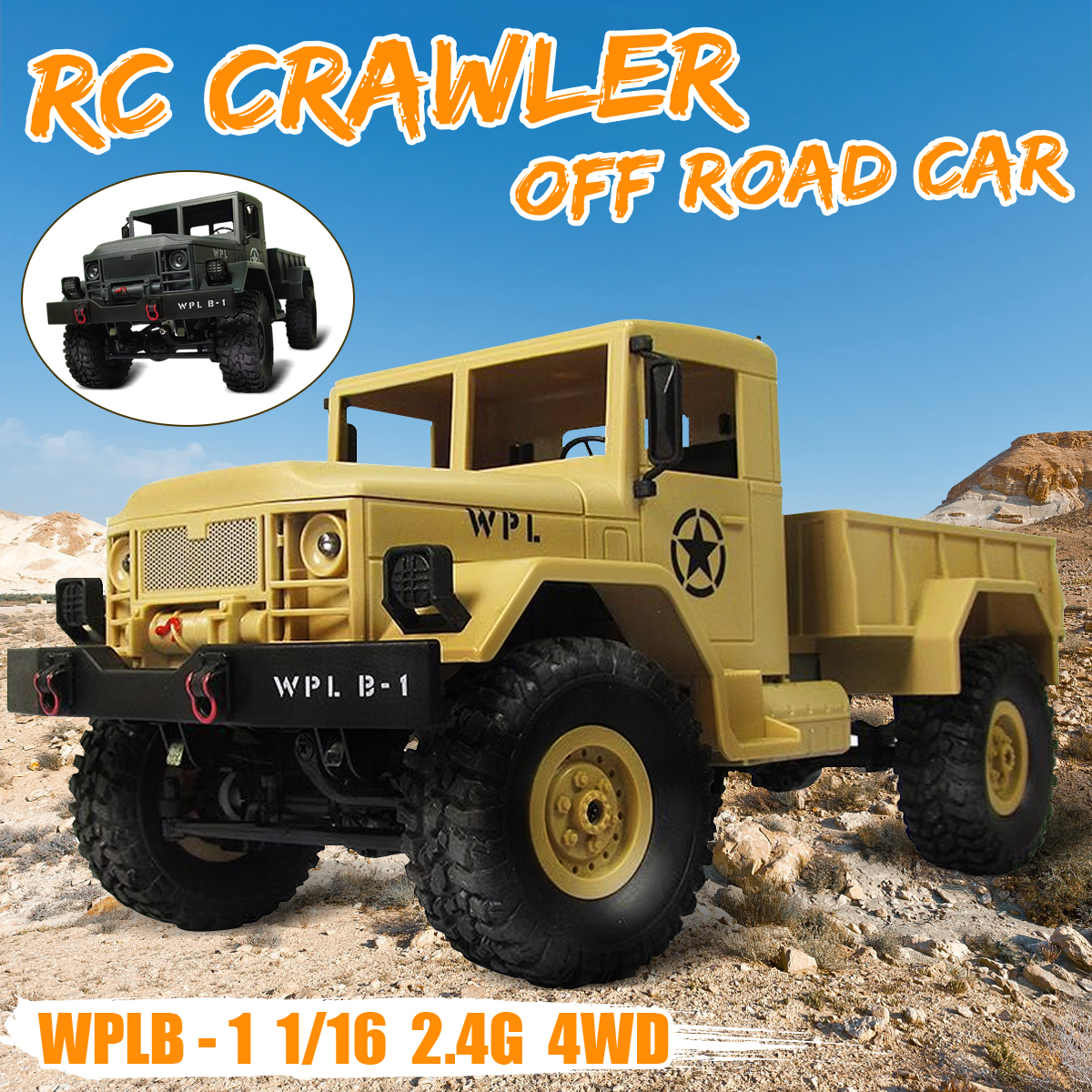RC Crawler Off Road Car WPL B-1 DIY Car Kit 1/16 2.4G 4WD Without Electronic Parts ATR ABS Metal Assemble For Boy Children high quality feiyue fy 03 eagle rc remote control car kit for diy handmade upgrade parts without electronic parts