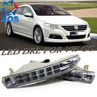 2PCs Set Car Styling LED DRL Daylight Daytime Running Light For Volkswagen Passat CC 2009 2010