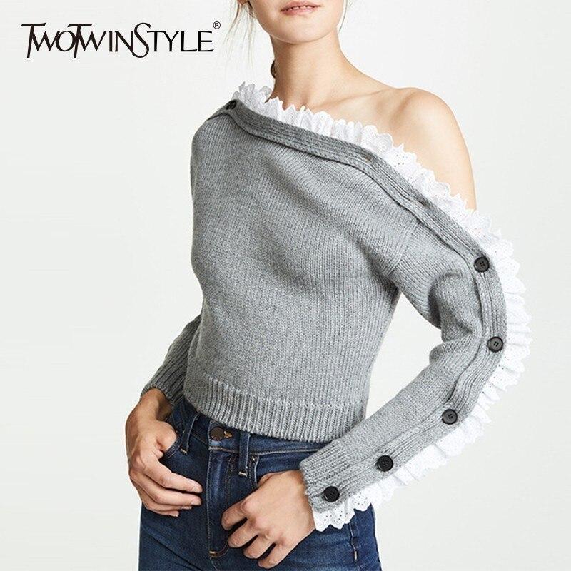 Key Largo Donna Pullover Manica Lunga Top oversize da donna maglietta shirt casual Sale