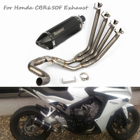 CBR650F Motorcycle Exhaust System Tip Muffler Silencer Header Link Tube Pipe Slip on Whole Set Pipe for Honda CBR650F