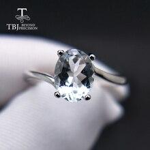 TBJ, модное маленькое кольцо с натуральным бразильским аквамарином из серебра 925 пробы, драгоценный камень, ювелирные изделия для женщин и девушек в подарок