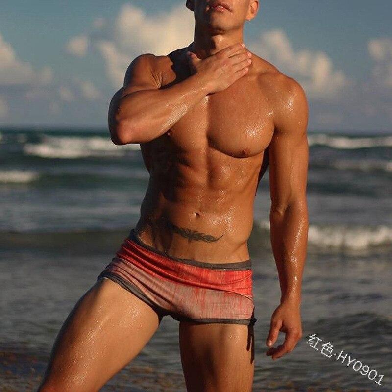 2020 новые сексуальные плоские угловые шорты мужские пляжные модные солнцезащитные шорты бордшорты для плавания Гавайские шорты для купания XX013
