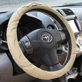 quality Sheepskin Leather Car Steering Wheel Covers for 95% car styling  Car Cover