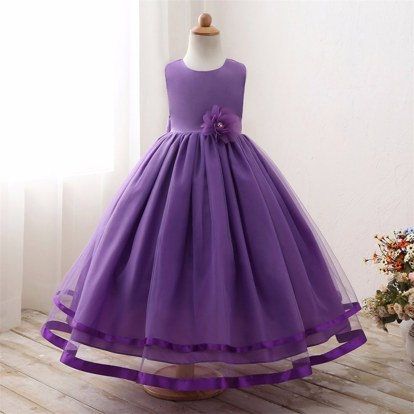 Maxi Summer Kids Wedding Dresses For Girls Designs Long Evening Party Bridesmaid Formal Robe Fille Little Children Clothing 18 17