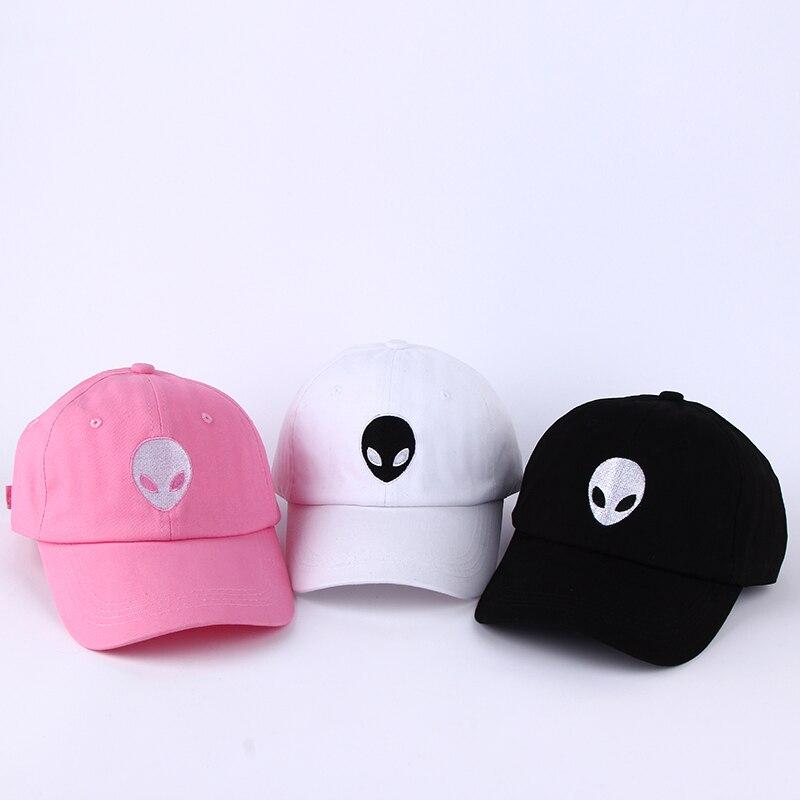 Hot Sales Aliens Outstar Saucer Space E.T UFO Fans Black Fabric Baseball Caps Hat For Men Women