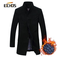 New Men S Wool Coat Jackets Outerwear Winter Fashion Slim Wool Coat Men Thicken Warm Men