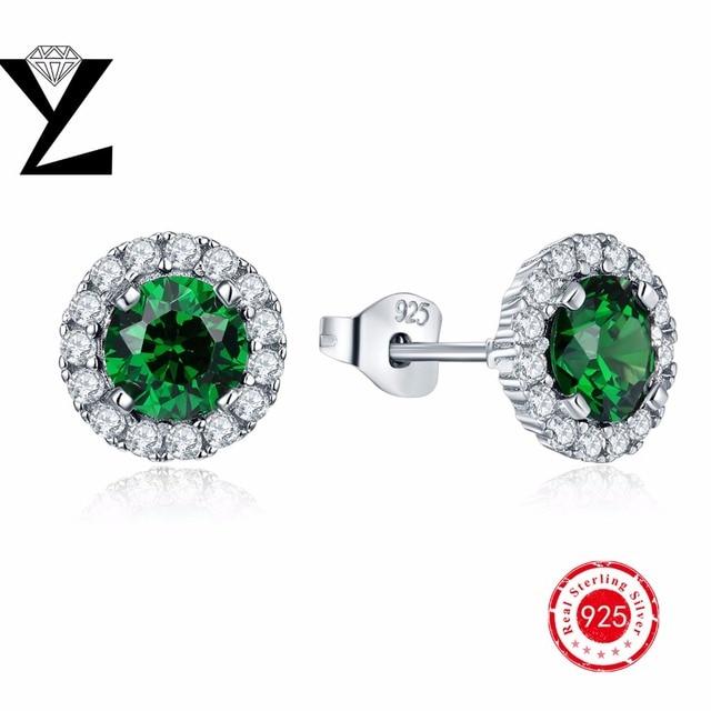 2017 Hot Sale Fashion 100% 925 sterling silver Luxury Crystal Elegant stud earring for Women best gift for women valentine gift