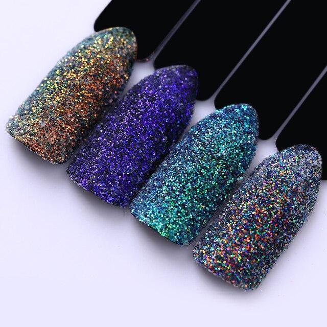 Laser Transparante Nail Glitter Holografische Pailetten Kleurrijke