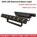Cheap Price High Quality 7X3W Warm White Led Wall Washer Light 25W Led Diamond Beam Light, DMX Mode Led Stage Dj Disco Lights