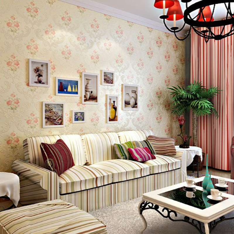 ФОТО beibehang Non-woven bedroom wallpaper simple and stylish decoration cozy American pastoral small floral wallpaper TV backdrop