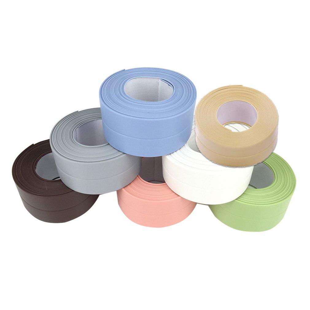 Self Adhesive Waterproof Mildew-proof Seam Sealing Strip PVC Sticker Bathroom Wall Corner Line Sink Stickers For Home Use Sale